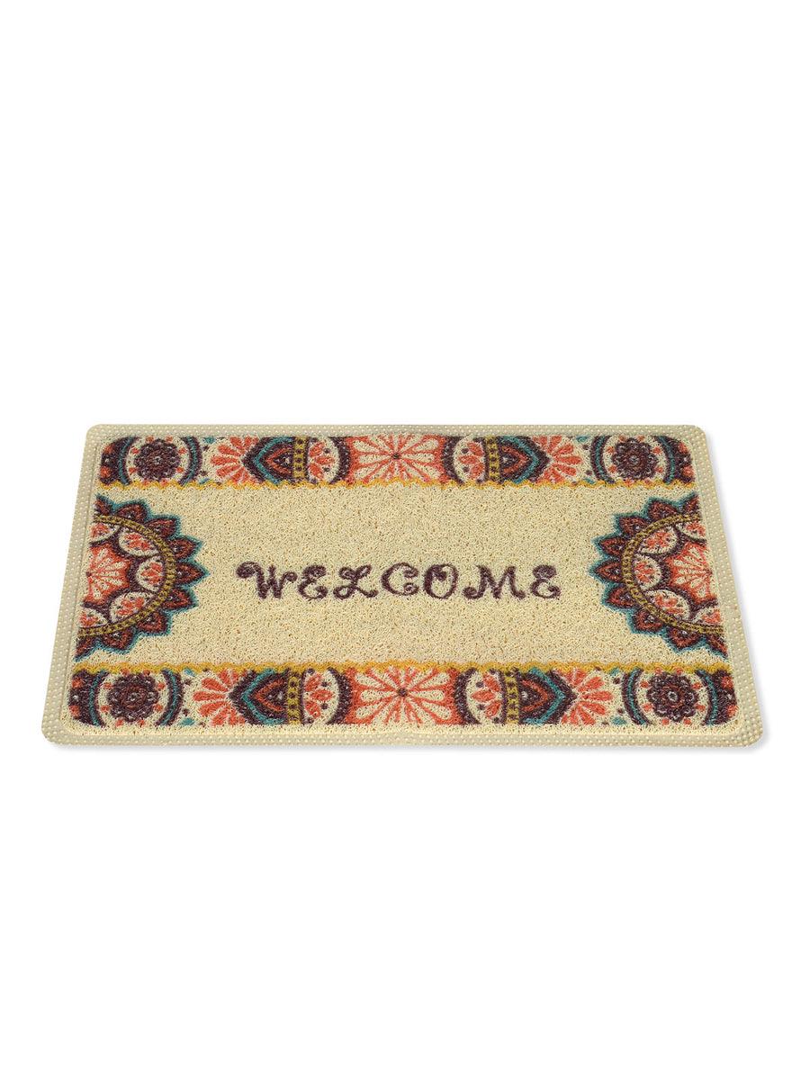 Motif Welcome Doormat (Multicolor)