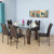 Hermiston 6 Seater Dining Set (Brown)