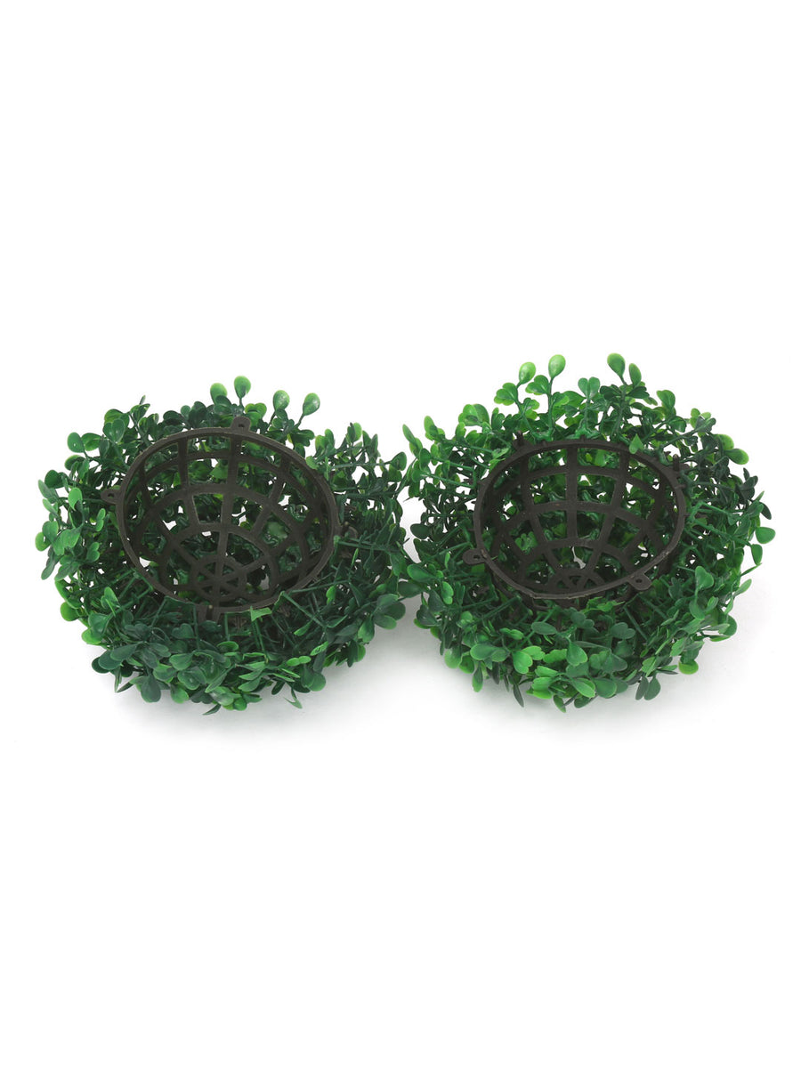 Boxwood Medium Ball Planter (Green)