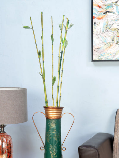 Bamboo Stick With Leaf Wicker (Green)