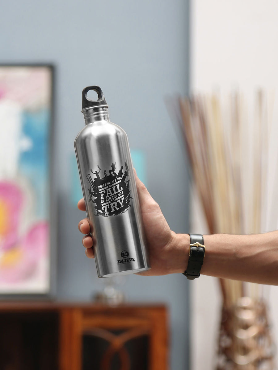 """83"" Single Cap 750 ml Single Wall Bottle (Black)"
