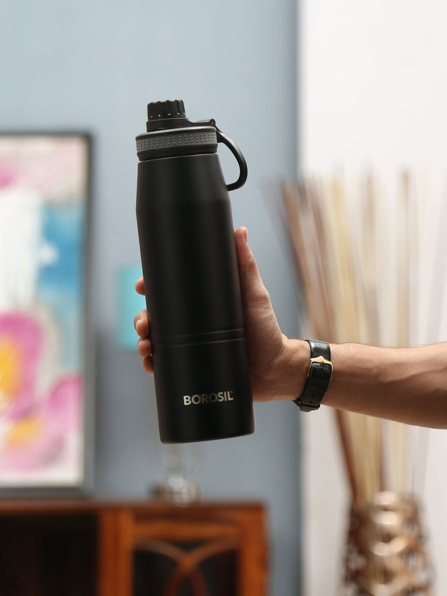 Gosport 900 ml Flask (Black)