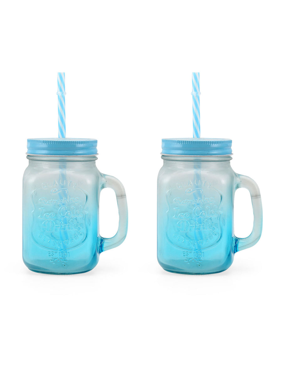 Zibo 450 ml Mason Sipper (Blue)