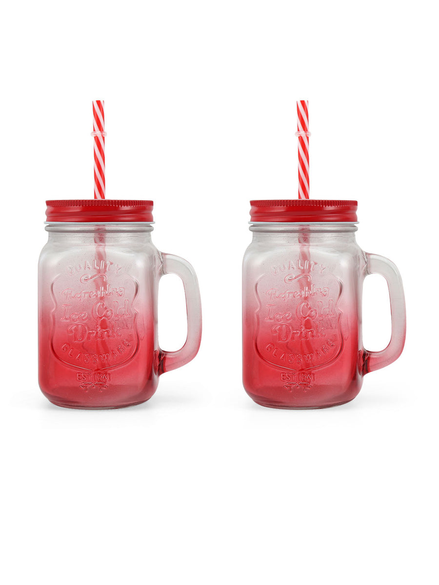 Zibo 450 ml Mason Sipper (Red)