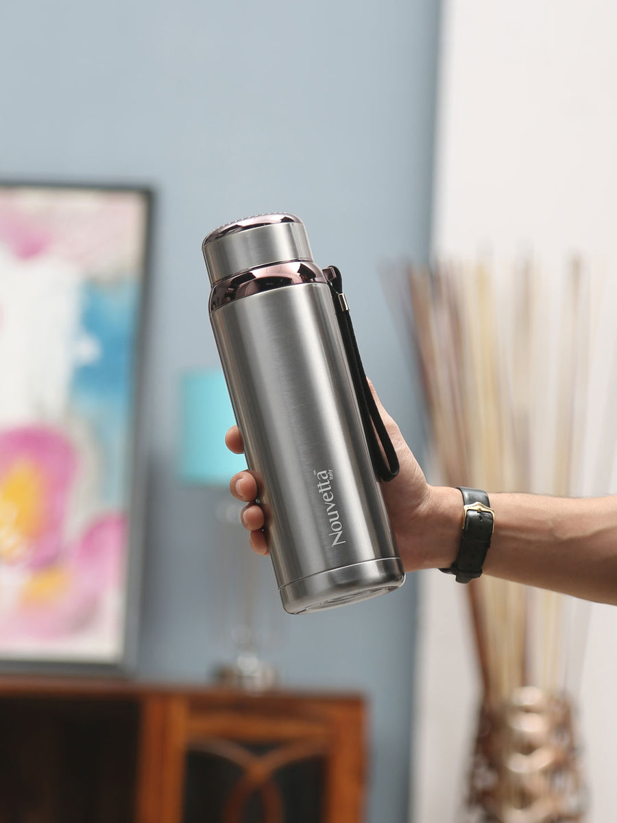 Hi -Fi Double Wall 800 ml Bottle (Silver)