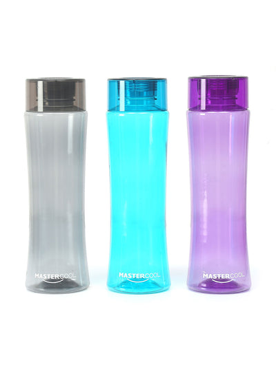 Curved Bottle Set of 3 (Multicolour)