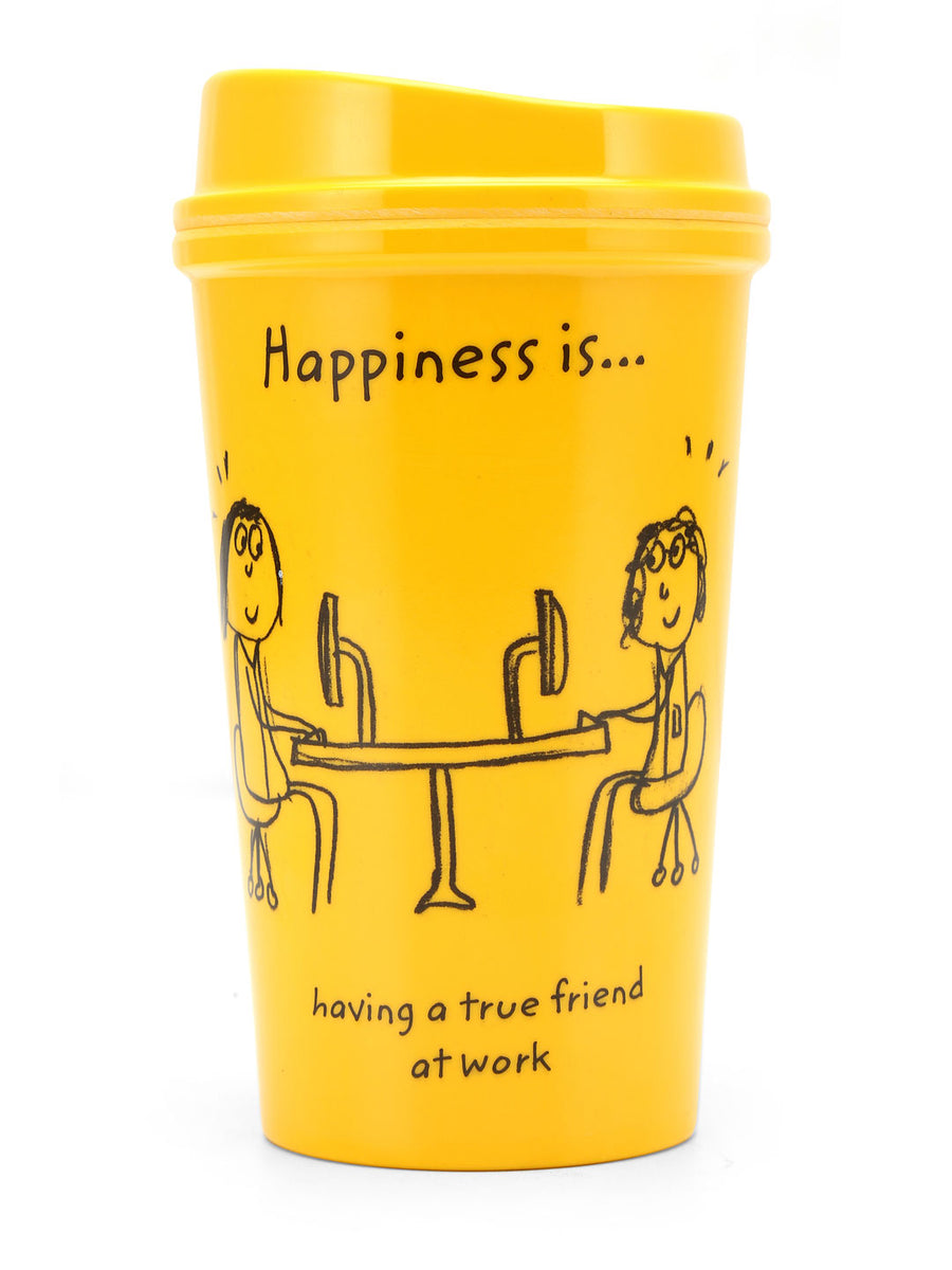 Happiness 420 ml Sipper Jar (Yellow)