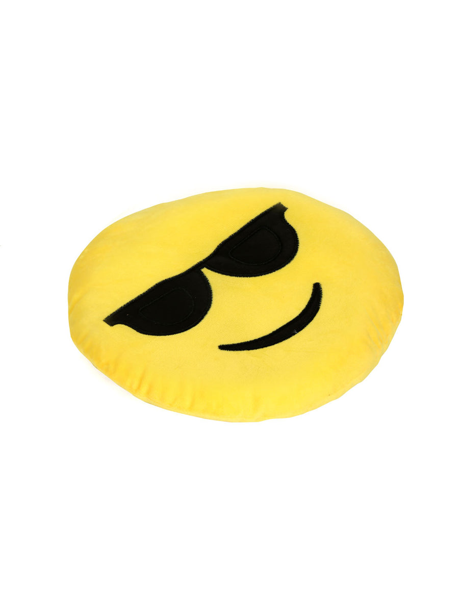 Sunglasses filled cushion 35cm (Yellow)