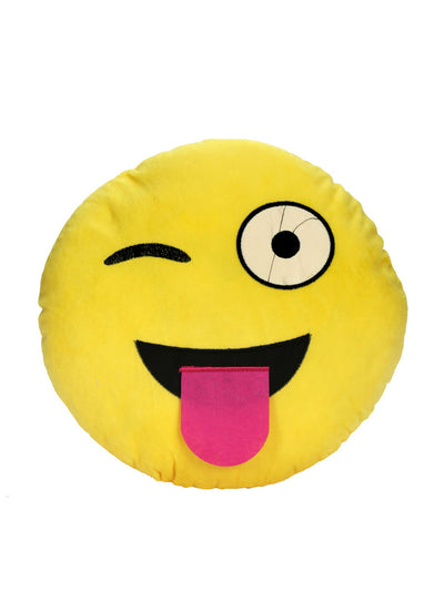 Crazy filled cushion 35cm (Yellow)
