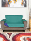 2 Seater Reversible Sofa Cover 179 cm x 223 cm (Sea Green & Indigo)