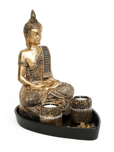 Devotional Buddha Moksha Show Piece (Brown)