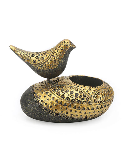 Bird on Holder Large Showpiece (Gold)