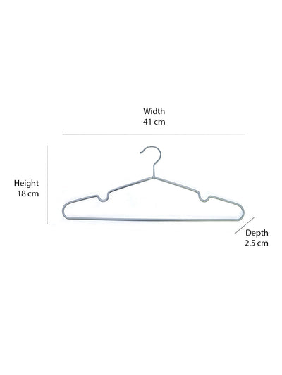 PVC Coated Hangers 24 Pieces (Grey)