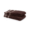 Spaces Hygro Small 2 Pcs Hand Towel Set 600 GSM(Chocolate)
