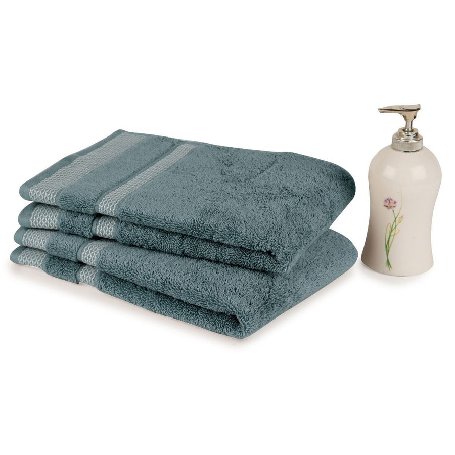 Spaces Hygro Small 2 Pcs Hand Towel Set 600 GSM(Forever Blue)