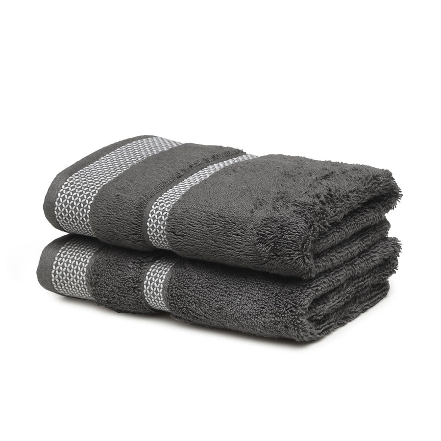Spaces Hygro Small 2 Pcs Hand Towel Set 600 GSM(Stone)