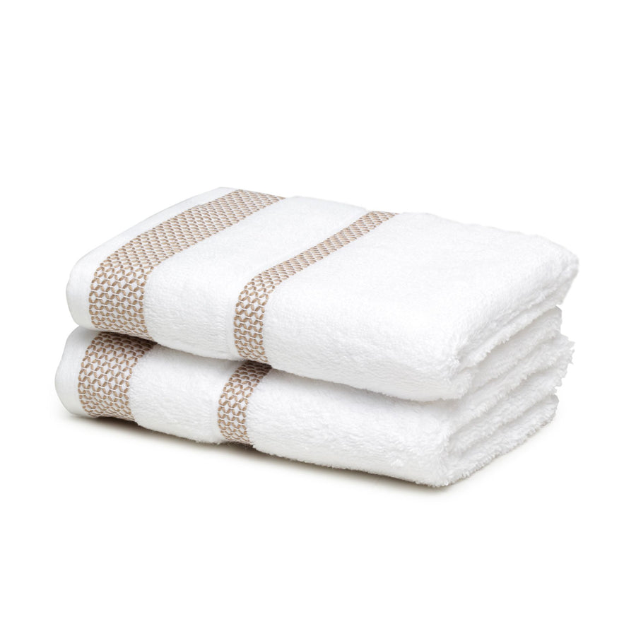 Spaces Hygro Small 2 Pcs Hand Towel Set 600 GSM(White)