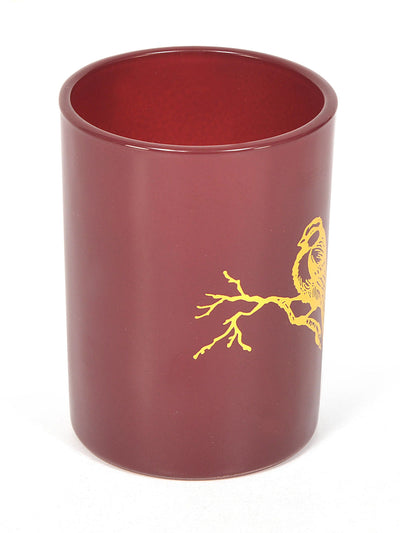 Bird Bath Set Of 2 Piece (Maroon)