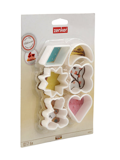 Star Cookie Cutter 6 Pieces (White)