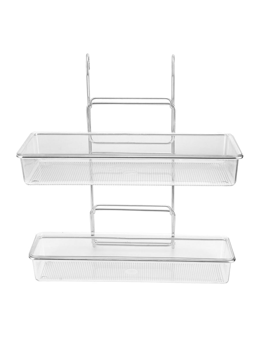Hanging 2 Tier Multipurpose Rack (Silver)