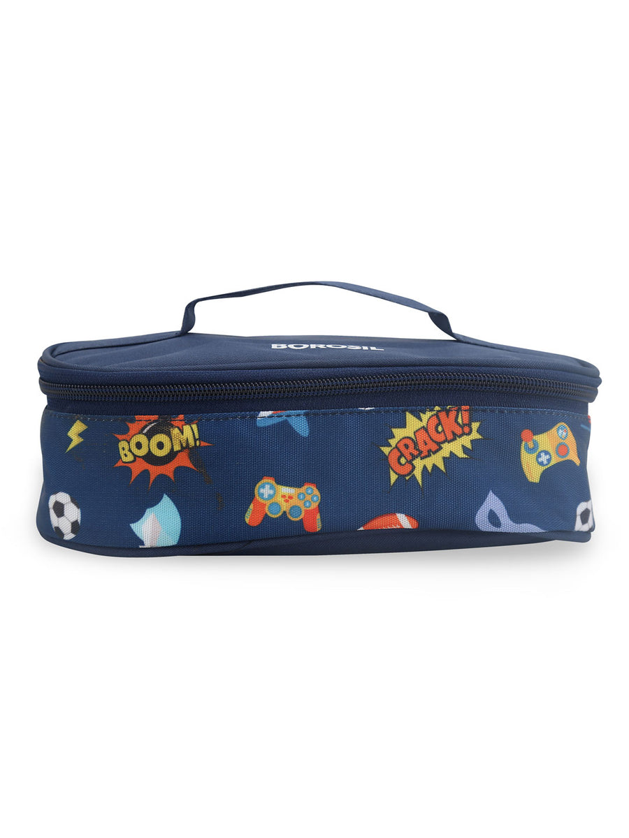 300 ml Lunch Box with Bag 2 Pieces (Blue)
