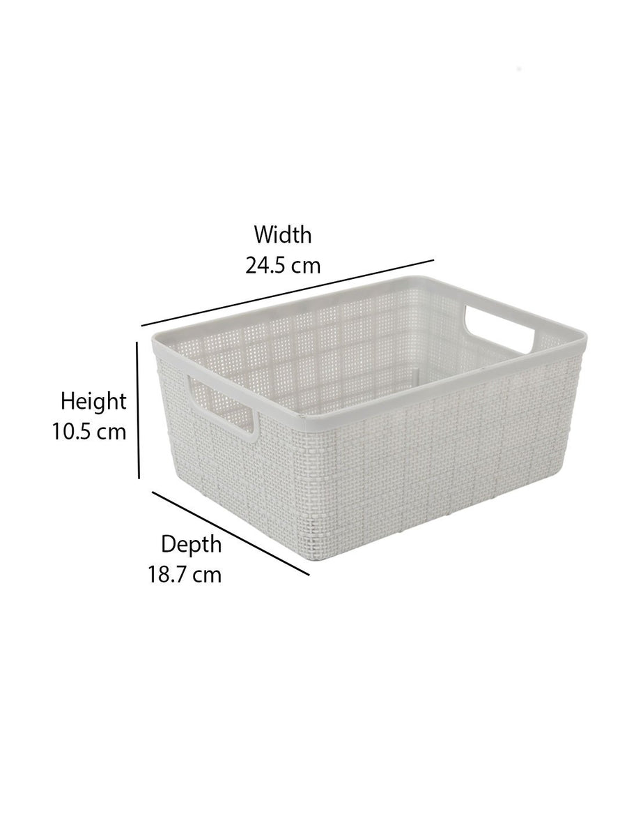 Storage 4 litre Basket (Grey)