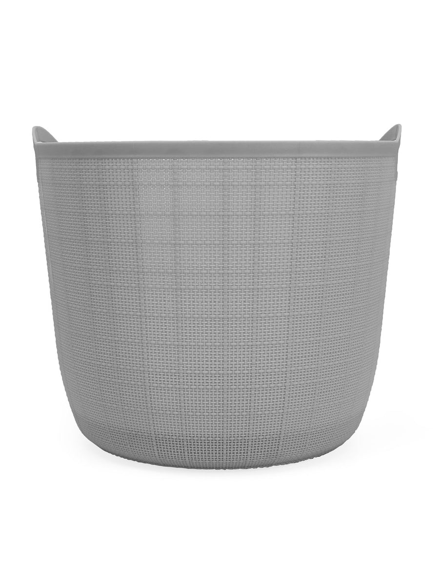 Round 32 Litre Laundry Basket (Grey)