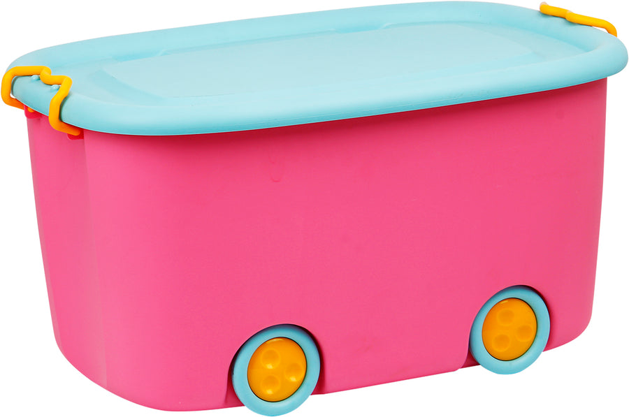 45 Litre Rolling Box for Kids (Pink)