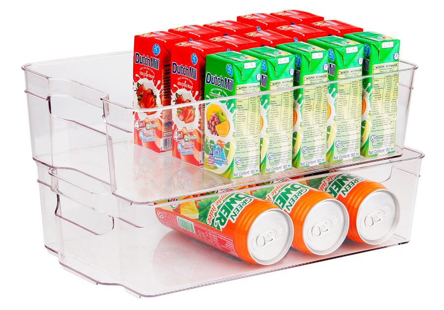 Stackable Medium Fridge Bin (Clear)