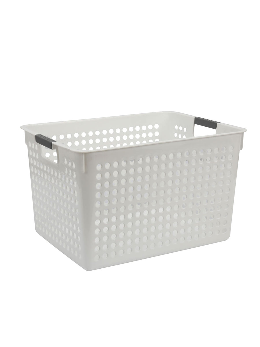 Strong Desk Basket (White)