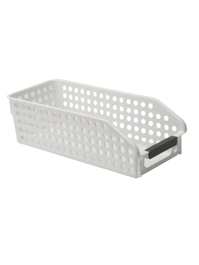 Slanted Storage Desk Basket (White)