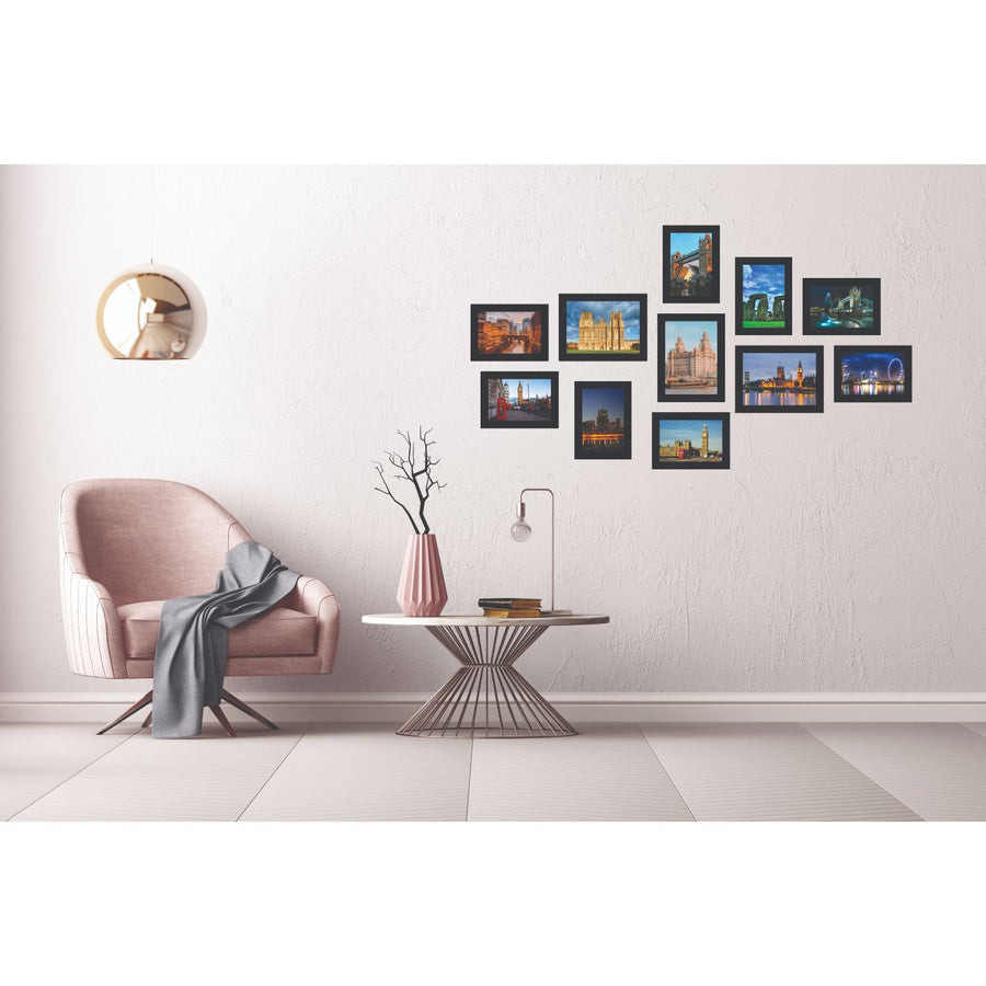 Mirage Combo Photo Frame 11 Pieces (Black)
