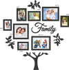Mirage Combo Photo Frame 8 Pieces (Black)