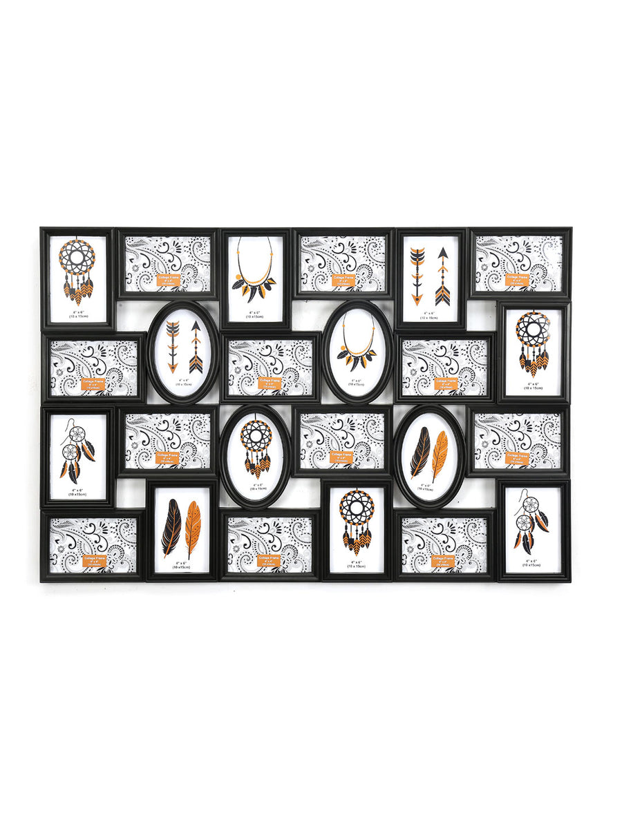 8 Collage Magna Photo Frame (Black)