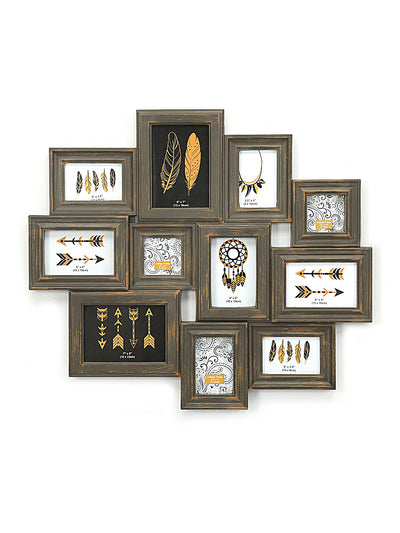 11 Collage Photo Frame (Brown)