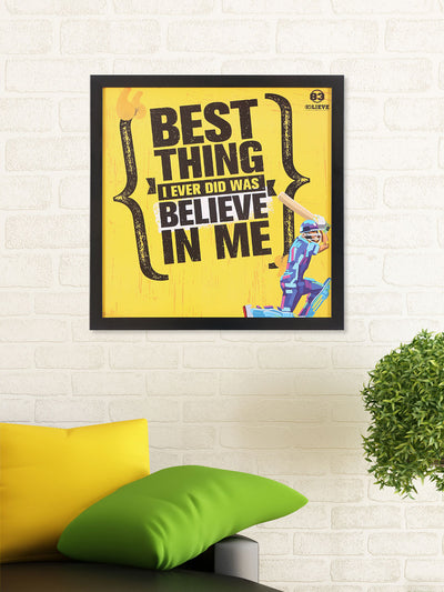 """83"" Best Thing Printed 40 cm x 40 cm Painting (Yellow)"