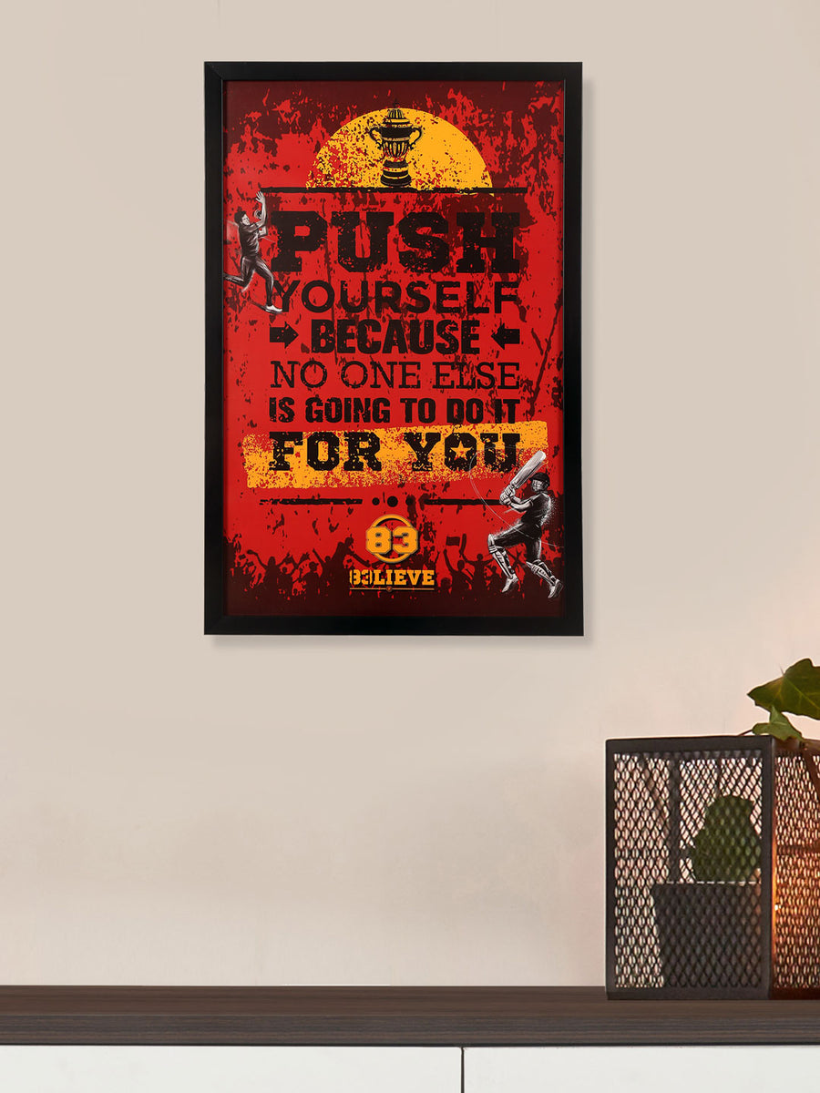 """83"" Push for You Printed 40 cm x 60 cm Painting (Red)"