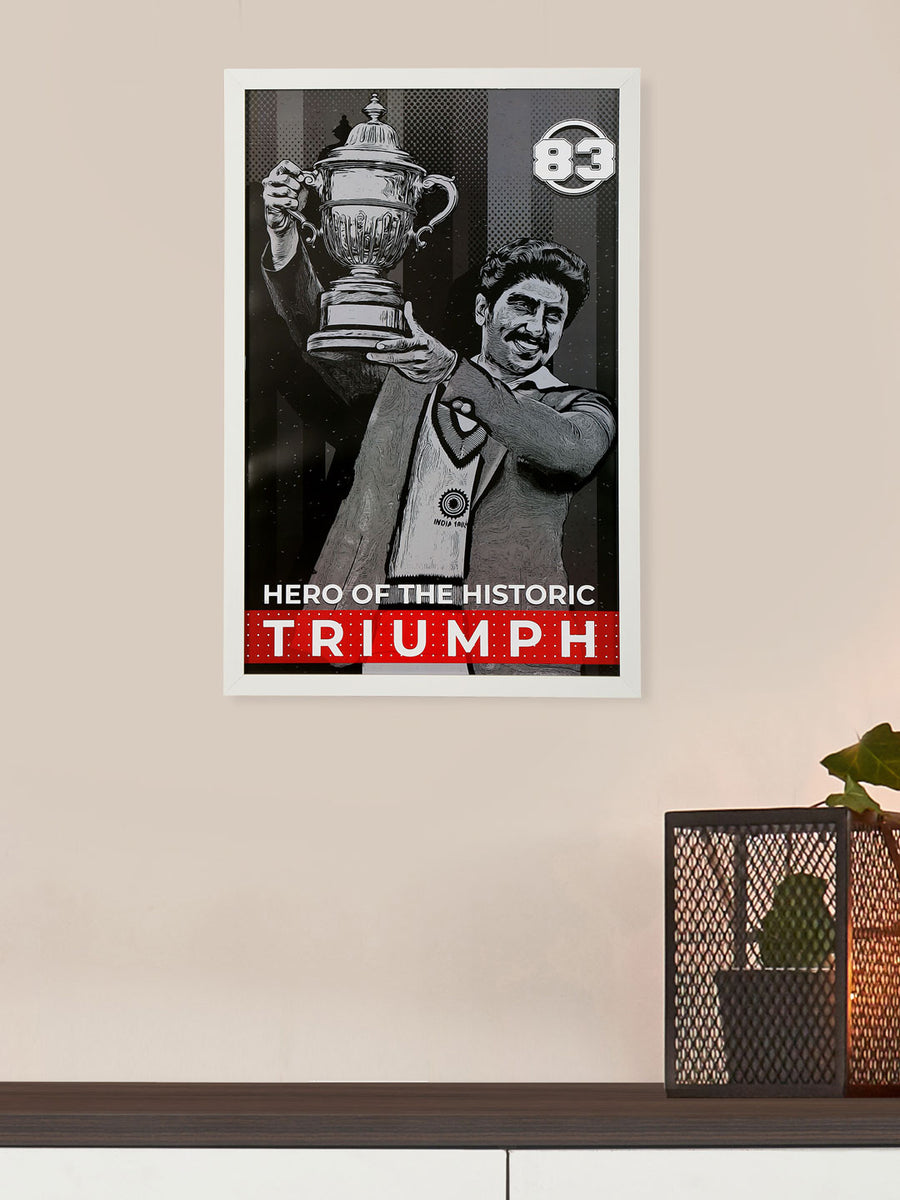 """83"" Hero Triumph Printed 40 cm x 60 cm Painting (White)"