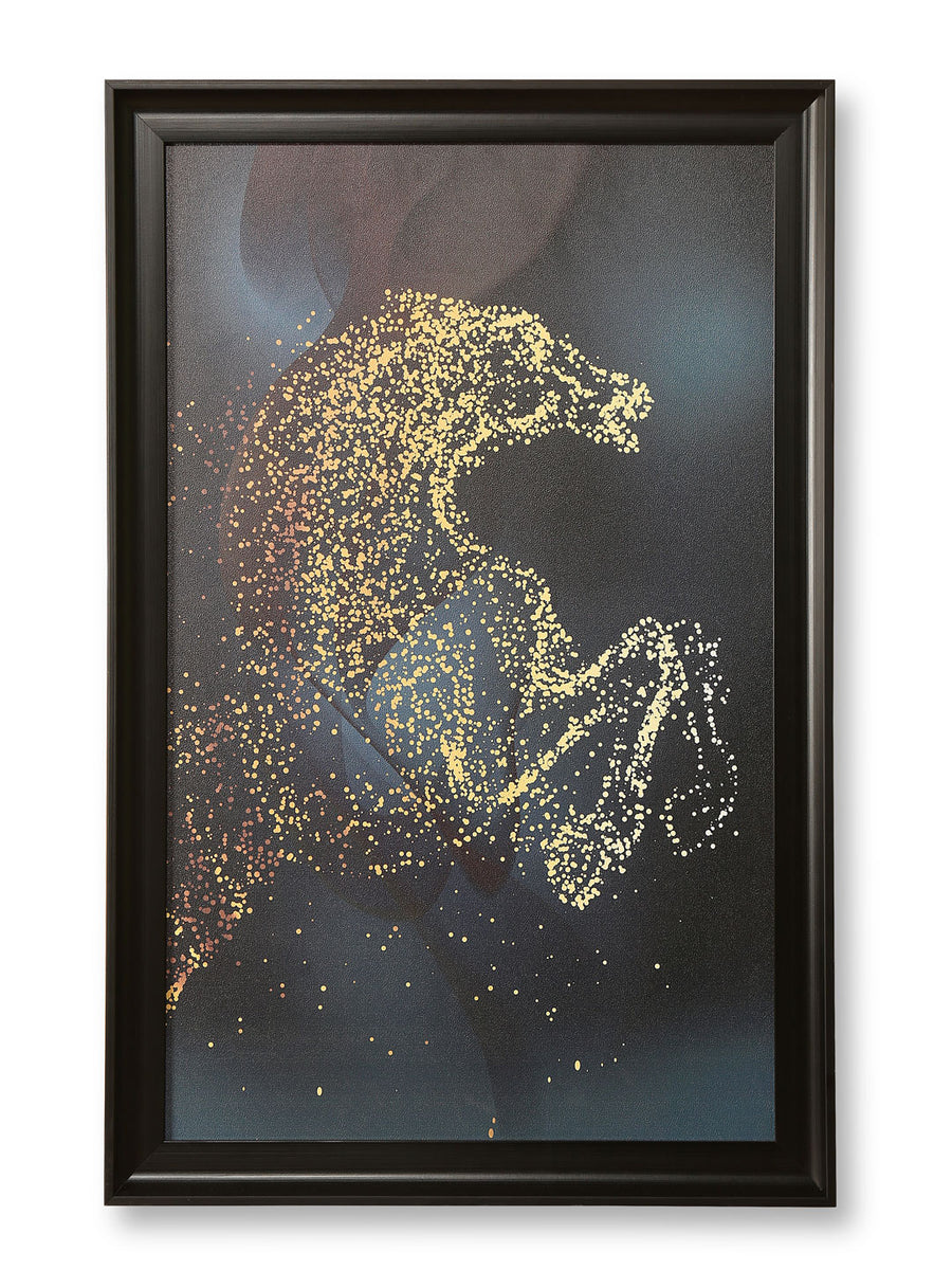 Jumping Horse Painting (Black & Gold)