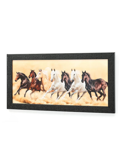 Seven Horses Painting (Brown)