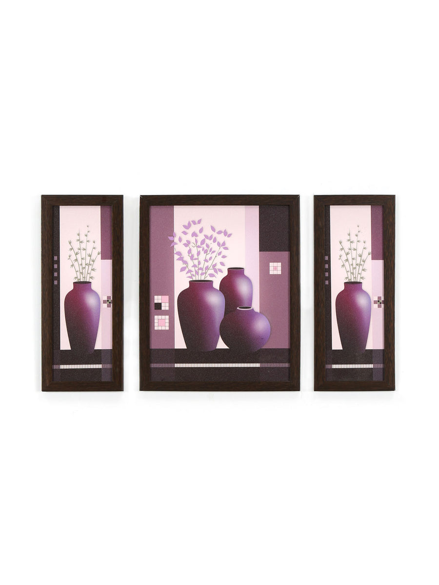 Still Life Painting Set of 3 (Lavender)