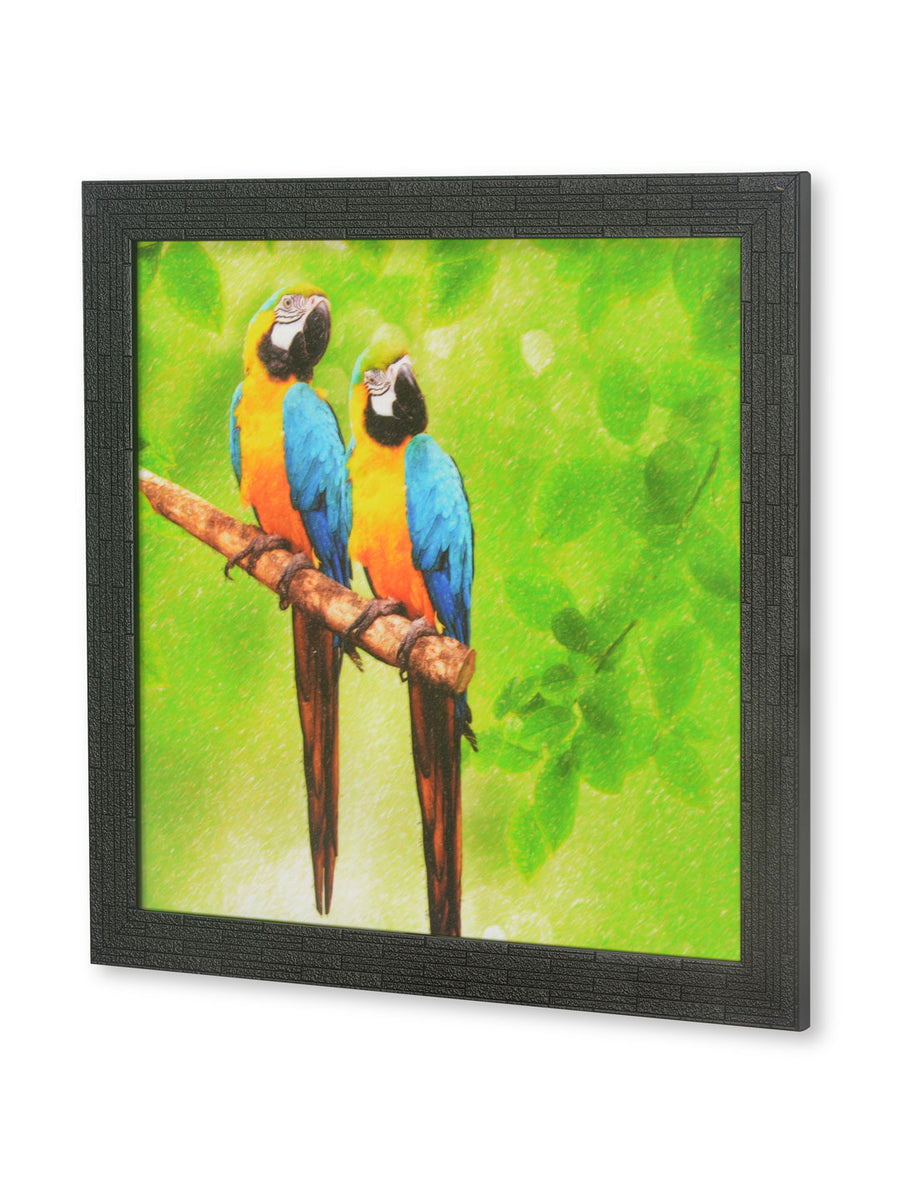 Kingfisher Birds Painting (Lime Green)