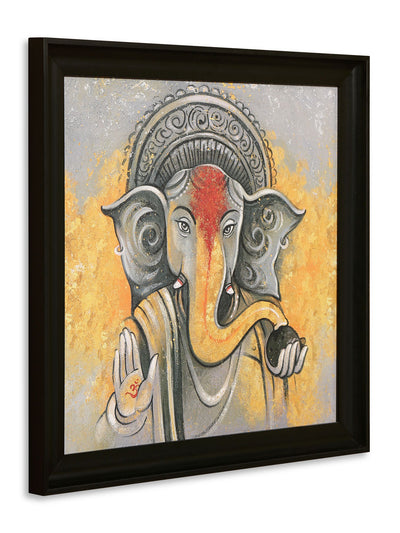 Ghyana Ganesha Painting (Yellow)