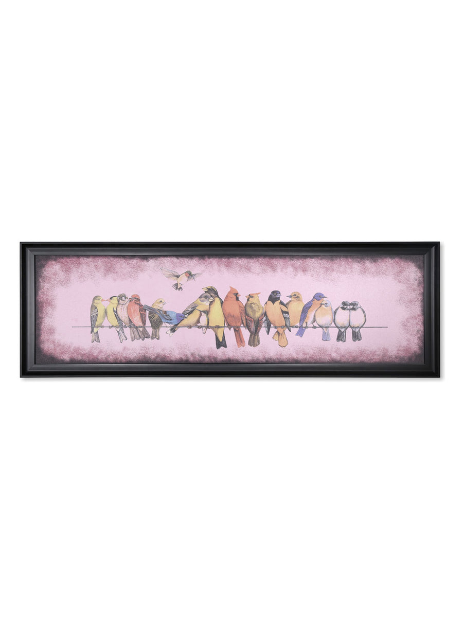 Oni Birds on Rope Painting (Pink)