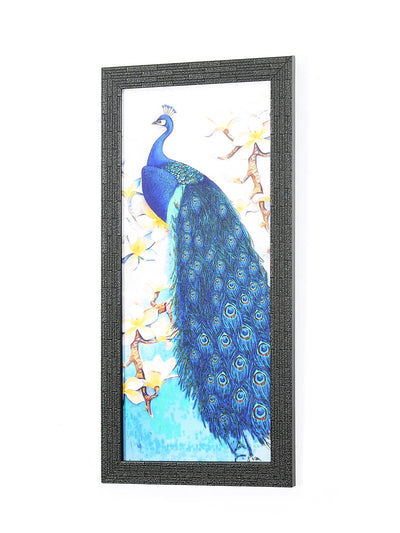 Peacock on Branch Painting (Sea Green)