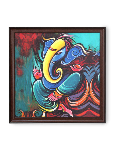 Ganesha Abstract Painting (Sea Green)
