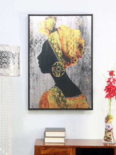 African Lady Painting (Yellow)