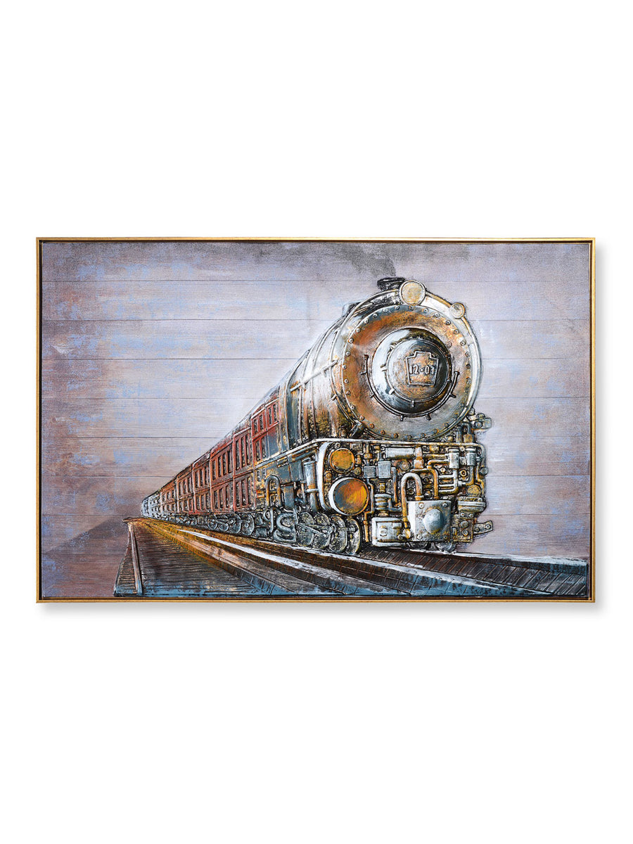 Embossed Engine Painting (Brown)