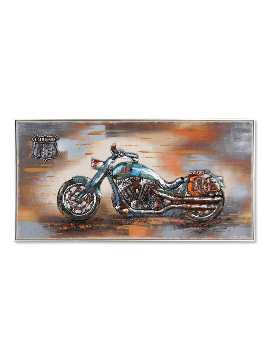 Embossed Cruiser Bike Painting (Brown)
