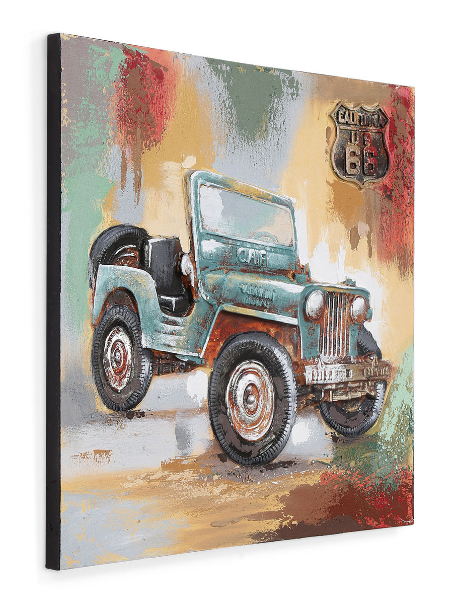 Jeep Emboss Painting (Emerald)